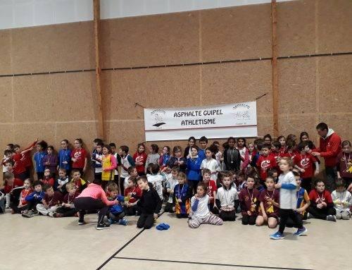 Deuxième journée de rencontre inter-écoles «Kid-Athlé-Éveils» à Guipel le 20 Janvier