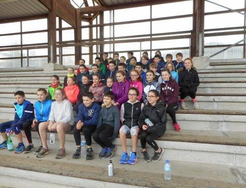 Match  Intercomités de Cross-country benjamines le 4 Février. à Combourg