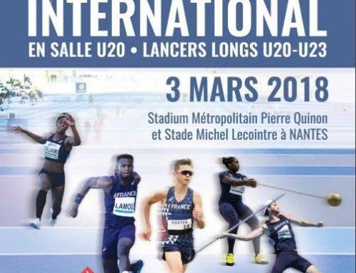 Match -20 ans / -23 ans de Lancers Longs Fra-Ger-Ita le 3 Mars 2018 à Nantes