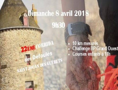 22ème Corrida de Saint-Jouan-Des-Guérets le 8 Avril 2018