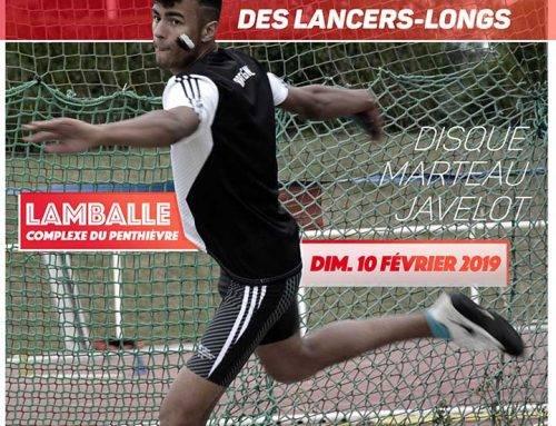 Championnats de Bretagne Lancers Longs, Lamballe le 10 Février 2019