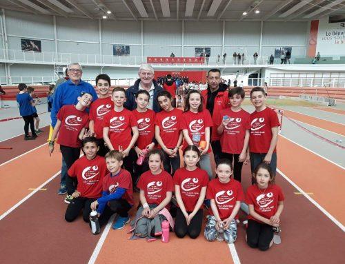 Animation départementale d'athlétisme Poussins du samedi 16 mars 2019, à Rennes.