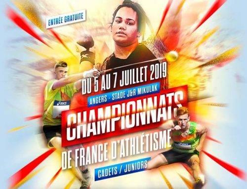Championnats de France Cadets et Juniors, Angers, du 5 au 7 Juillet 2019