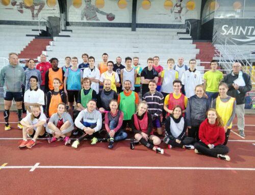 Joutes relais entre les différents groupes d'entraînement